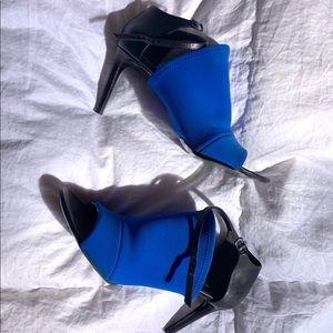 Balenciaga cobalt blue scuba heels